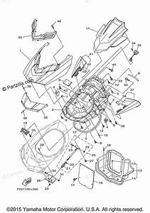 Yamaha Waverunner 2016 Oem Parts Diagram For Engine Hatch 2