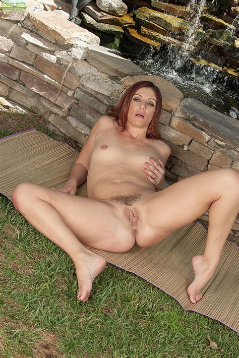 Naughty Redhead Milf Alicia Silver Tease And Strip Milf Fox