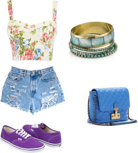17 Polyvore Combinations With High-Waisted Shorts
