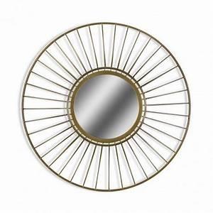 Miroir Doré Rond : miroir rond geometrique metal dore versa 21110105 ~ Teatrodelosmanantiales.com Idées de Décoration