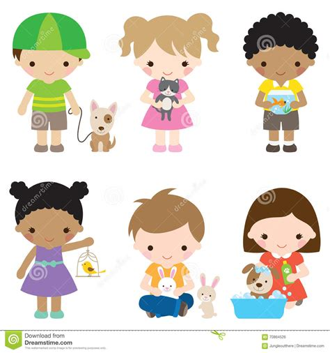 Haustiere Fuer Kinder by And Pets Stock Vector Image 70864526