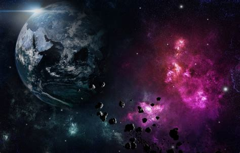 fragmented space wallpaper phenomenon fragments space meteorites planet images for desktop section космос