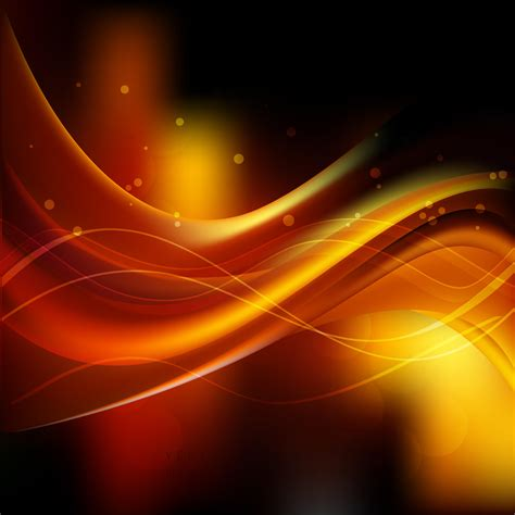 Abstract Wave Black And Orange Background by Black Orange Wave Background Design