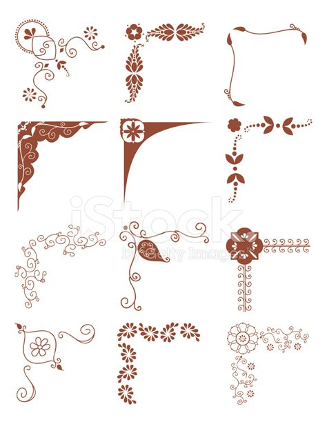 bed frame for boy mehndi corners vector stock vector freeimages com