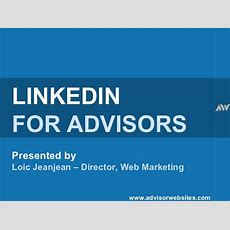 Linkedin Webinar For Financial Services