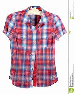 Plaid Shirt With Red And Blue Band Stock Photo - Image ...