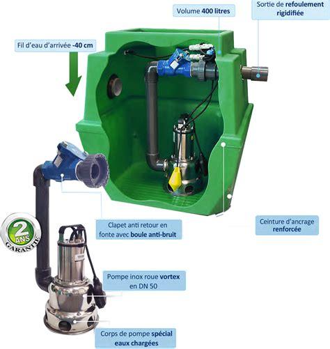 micro station de relevage eaux usées poste relevage eaux us 233 es 400l sanirel station de