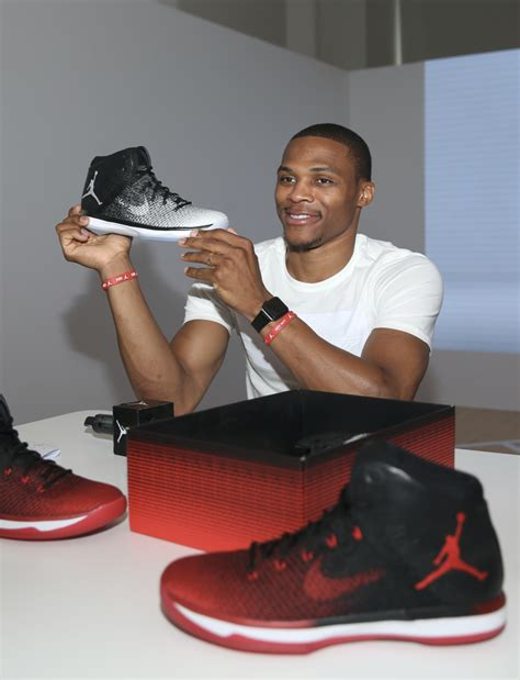 Russell Westbrook Checks Out The Upcoming Air Jordan Xxxi