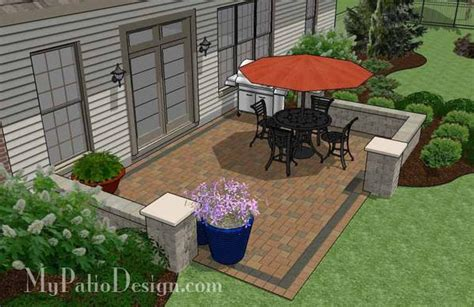 How to decorate your pink bathroom. DIY Paver Patio Design with Seat Wall | Downloadable Plan - MyPatioDesign.com