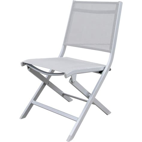 chaise pliante aluminium textilene chaise aluminium blanc toile textilène blanche pliante