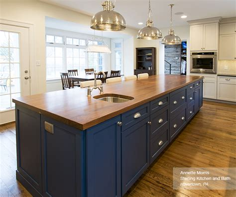 kitchen island blue white cabinets with a blue kitchen island masterbrand 1844
