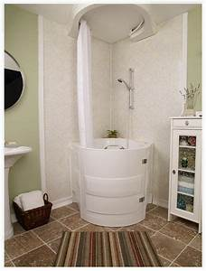 This Soaking Tub With Shower Is A Walk