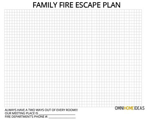 printable fire escape plan how to make a escape plan for home with printable plan template