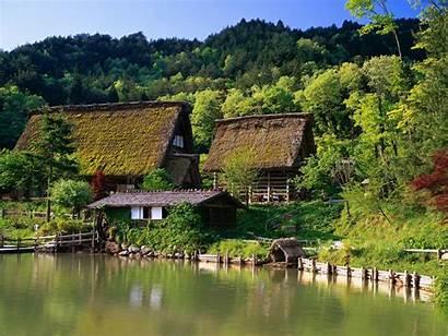 Nature Japan Landscape Lake Trees Desktop Wallpapers