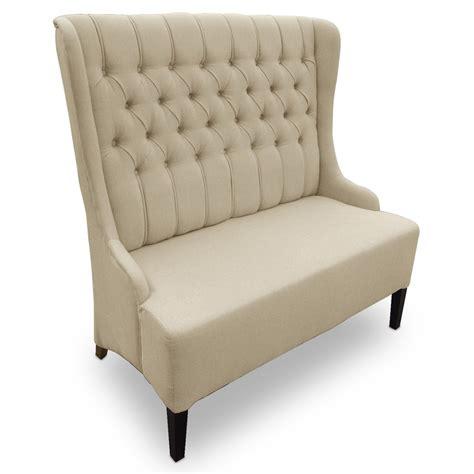 Beige Linen Highback Loveseat  Furniture I
