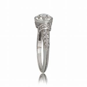 art deco style engagement ring estate diamond jewelry With wedding rings art deco