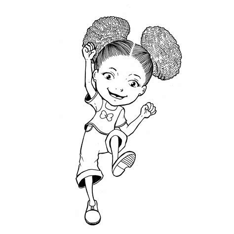 Black Hair Coloring by Coloring Page With Curly Hair Zari Coloring Pages