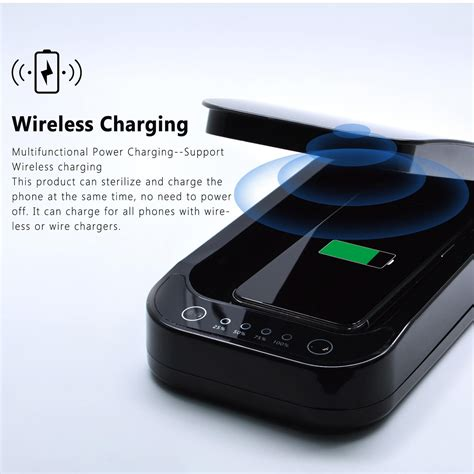 Cell Phone & Smartphone UV Sanitizer Box Wireless Charger