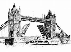 London Bridge Dessin : tower bridge of london drawing ~ Dode.kayakingforconservation.com Idées de Décoration