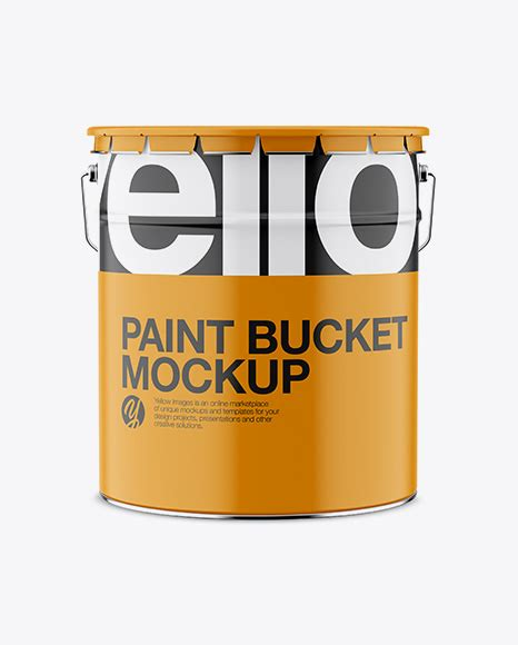 A fully layered pdf file with smart objects, the dimensions are 3500 x 3000 px at 300 dpi. Glossy Paint Bucket Mockup - Front View - 20L Matte Paint ...
