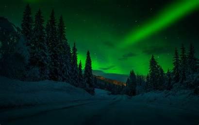 Night Winter Landscape Sky Snow Desktop Stars