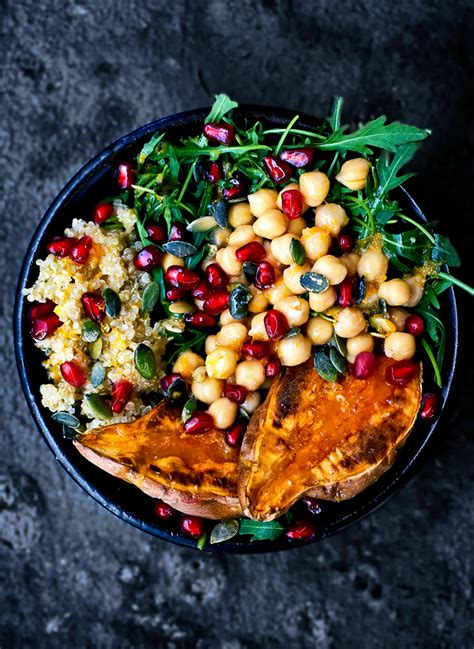 moroccan chickpea quinoa and sweet potato lunch bowls occasionally eggs