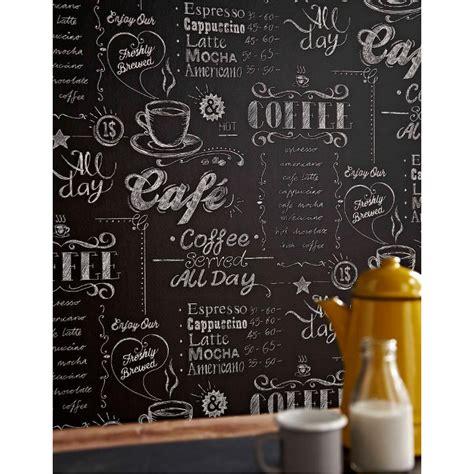 Stream coffee shop by café noir from desktop or your mobile device. Papier peint Coffee Shop noir et blanc. Graham & Brown