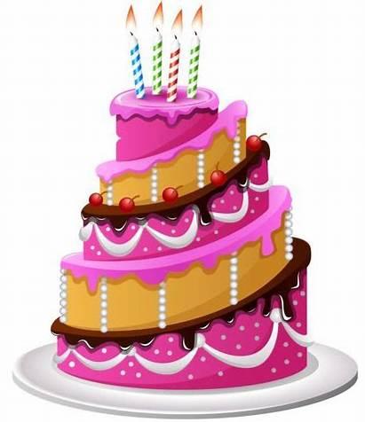 Cake Birthday Cartoon Delicious Candle Vector Vectors