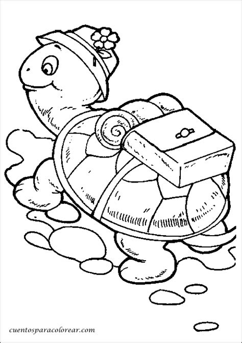 dibujos  colorear tortugas