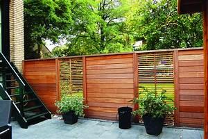 Panneau En Bois : panneau de bois jardin grillage rigide 2m de hauteur exoteck ~ Teatrodelosmanantiales.com Idées de Décoration