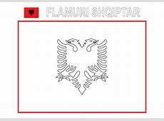 Clipart Color the flag of Albania