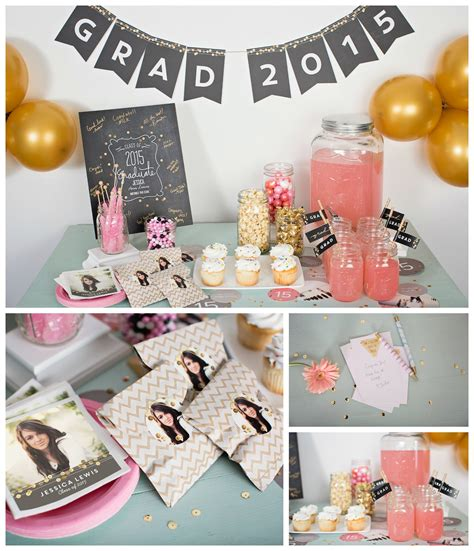 Class Family Home With Blue Pink And Gold Decor by Sequin Inspired Graduation Ideas Pear Tree
