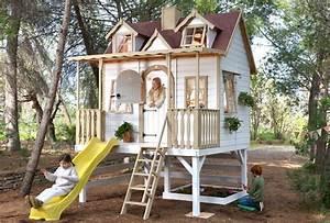 Grande Cabane Enfant : grande cabane enfant avec toboggan super baden ~ Melissatoandfro.com Idées de Décoration