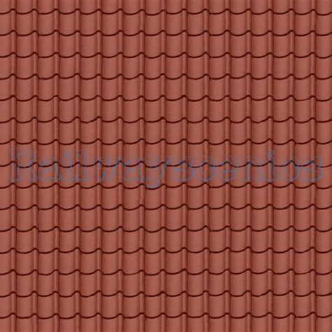 red pantile roof tile texture sheet