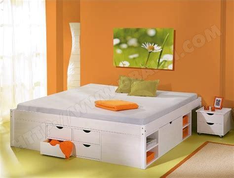 lit 140 avec rangement integre