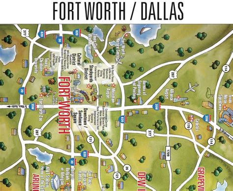 dallas fort worth area map map of dallas fort worth area