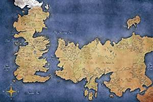 Game of Thrones Map of Westeros and Essos, Game of Thrones ...