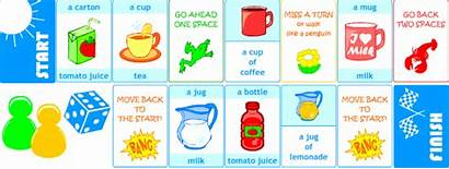 Thirsty Drink English Pl Containers Printable Games