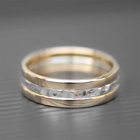 wedding ring gold and silver gold and silver rings lwsilver handmade jewellery designer