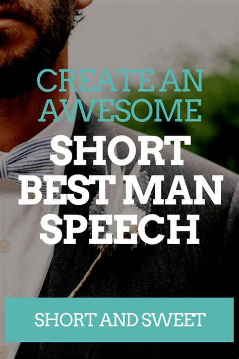 short sweet  man speech examples wedding speeches