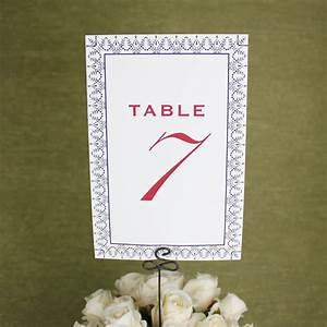 Word Templates For Wedding Invitations Printable Table Number Cards Vintage Design Download