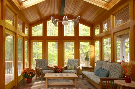 Modern Rustic Ceiling Fan by Acton 3 Season Porch Craftsman Porch Boston By Out