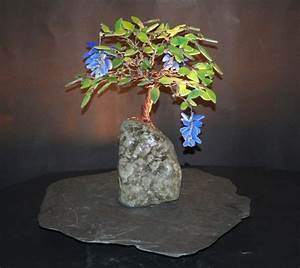 blue wisteria stained glass bonsai tree table lamps With bonsai tree floor lamp