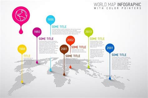 world map infographic  droplets