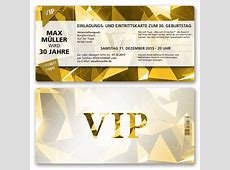 Einladungskarten als VIP Eintrittskarte bestellen