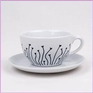 Tasse Selbst Bemalen : selbstgemachte geschenkideen diy bastelidee porzellan tasse bemalen basteln mit dem ~ Watch28wear.com Haus und Dekorationen