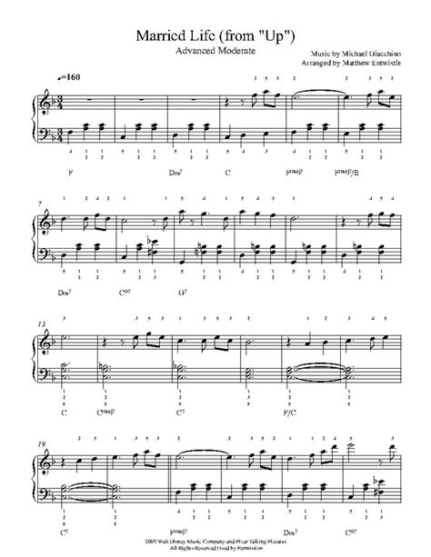 This is the free married life (from up) sheet music first page. Married Life by Michael Giacchino Piano Sheet Music | Advanced Level | Viola sheet music, Piano ...