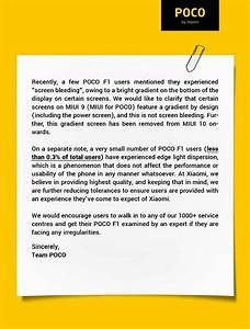 Xiaomi's Poco Issues A Statement Over Screen Bleeding ...