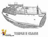 Ship Tanker Super Coloring Cargo Yescoloring Class Triple Printables Ships Boat Mega Tankers Seas Deep sketch template