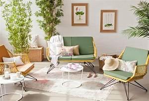 davausnet deco pour salon blanc vert avec des idees With chambre bébé design avec fleur pour salon